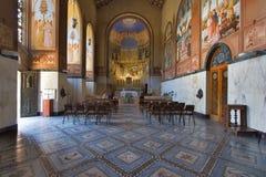 Open. Prayer hall in monastery in Jerusalem Stock Photography