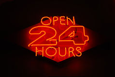 Open 24 Hours royalty free stock images