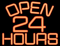 Open 24 Hours Neon Stock Image