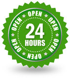 Open 24 sign Royalty Free Stock Photography