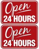 Open 24 uren Stock Afbeeldingen