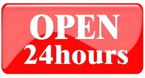 Open 24 Uren royalty-vrije illustratie