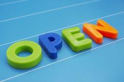 Open. Text Stock Photo