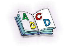 Open ABC book. Open colorful ABC book for children vector illustration