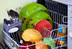 Open afwasmachine stock fotografie