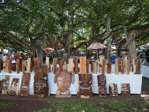 Open air art market in Lahaina Maui Hawaii Royalty Free Stock Image