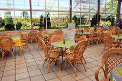 Open air beautiful cafeteria cafe restaurant Royalty Free Stock Photos