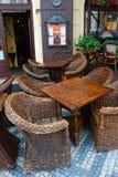 Open-air cafe Royalty Free Stock Photos