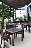 Open-air cafe. At the hotel Royalty Free Stock Images