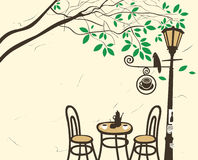 Open-air cafe Royalty Free Stock Photography