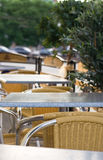 Open-air cafe. Photo of summer open-air cafe Royalty Free Stock Images
