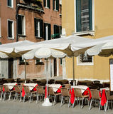 Open air cafe in Venice, Italy Stock Photography