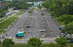 Open air carpark. In Parsir Ris opposite Downtown East royalty free stock photos