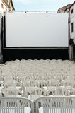 Open air cinema Royalty Free Stock Photo