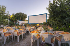 Open air cinema Stock Photography