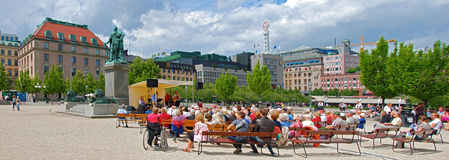 Open air concert on Kungstraedgarden Stock Images