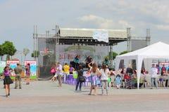 Open-air dance Stock Photo