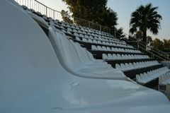 Open air deserted theater view in Turkey Royalty Free Stock Image