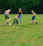 Open air family sport Stock Photos