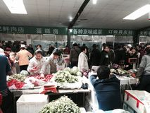 Open air farmer's market of agricultural products Stock Images