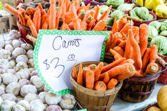Open Air Farmers Market. Table full of fresh local organic produce at open air farmers market royalty free stock photography