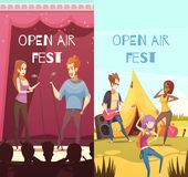 Open Air Festival Banners Set Royalty Free Stock Image