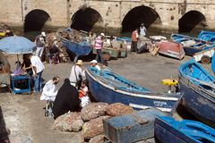 Open air fish marketplace Royalty Free Stock Photo