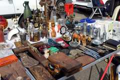 Open air flea market at Messplatz in Karlsruhe Stock Photo