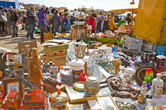 Open air flea market - Riesenflohmarkt Stock Photos