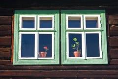 Open air folk museum, Slovakia stock photos