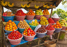 Open air fruit market Royalty Free Stock Photos