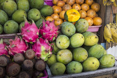 Open air fruit market in the village in Bali, Indonesia. Royalty Free Stock Photography