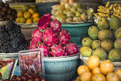 Open air fruit market in the village in Bali, Indonesia. Royalty Free Stock Images