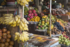 Open air fruit market in the village in Bali, Indonesia. Royalty Free Stock Image
