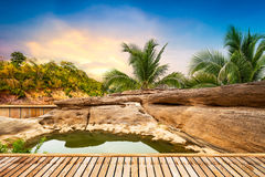Open air hot spring spa Royalty Free Stock Photo