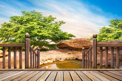 Open air hot spring spa. On outdoor natural background stock photos