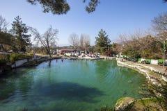 Open air hot springs in Keramet village. Orhangazi, Bursa stock photo