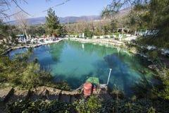 Open air hot springs in Keramet village. Orhangazi, Bursa royalty free stock images