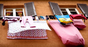 Open Air Laundry Royalty Free Stock Photo