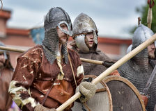 Open-air Legends of Norwegian Vikings. Festival of historical reconstruction Legend of the Norwegian Vikings, St. Petersburg, Russia Stock Photo