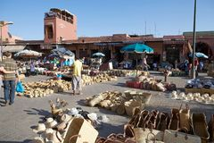 Open air market place Stock Photography