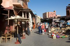Open air market place in Marrakesh Stock Photography