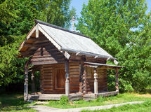 Open-air museum of  ancient wooden architecture. Russia. Vitoslavlitsy, Great  Novgorod.Chapel Close up in a sunny day Stock Images