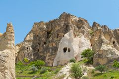 Open air Museum - Cave pigeon houses Stock Image