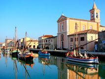 Open air museum in Cesenatico Royalty Free Stock Photo