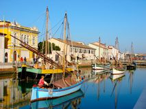 Open air museum in Cesenatico Stock Images