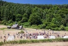 Open air museum Havranok, Slovakia Royalty Free Stock Photo