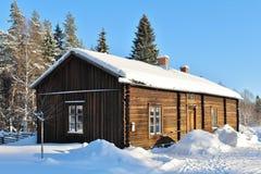 Open-air museum Hägnan in Gammelstad Stock Photo