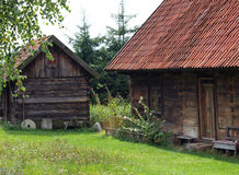Open-air museum in Kadzidlowo. Old houses in open-air museum in Kadzidlowo, Poland Stock Image