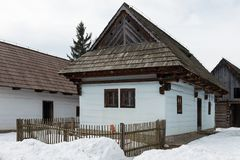 Open-air museum of Liptov Village in Pribylina, Slovakia stock images